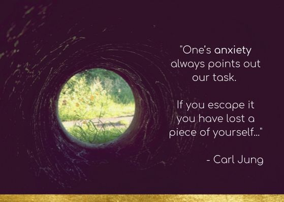 Your anxiety is a compass, pointing the way home…